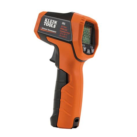 Termometer Laser Infrared dual laser infrared thermometer ir5 klein tools for