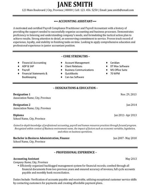 31 best best accounting resume templates sles images on creative ideas budget