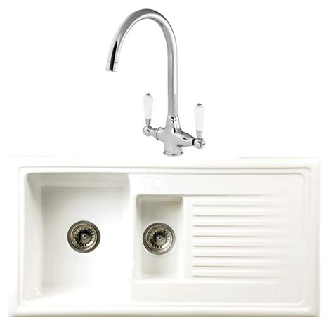 Ceramic Kitchen Sinks And Taps Reginox Rl301cw Elbe Ceramic Sink And Tap Pack Appliance House