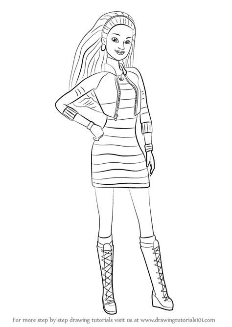 barbie life in the dreamhouse coloring pages learn how to draw summer from barbie life in the