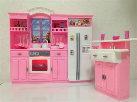 barbie sized doll house new barbie size dollhouse furniture gloria kitchen play set ebay