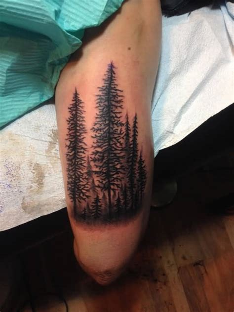 joshua tree tattoo simple forest trees design by joshua dobbs