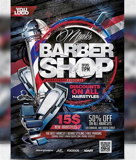 barber shop template 14 cool flyers templates for barbershop desiznworld