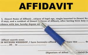 what is an affidavit with pictures