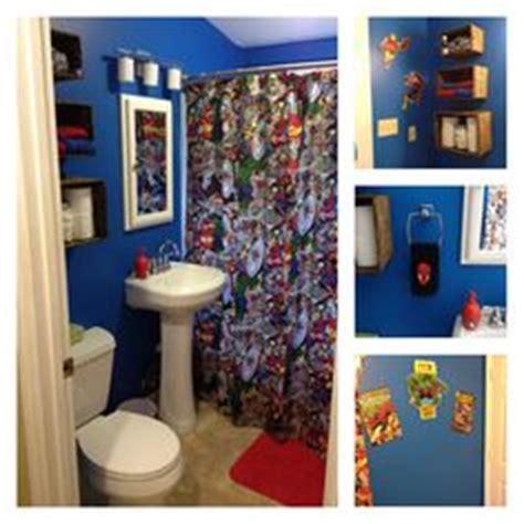 superhero bathroom ideas super hero comic book floor i bought 12 comic books for