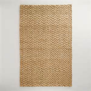 world market jute rug 5 x 8 chunky weave chevron jute rug world market