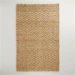 Chunky weave chevron jute rug world market