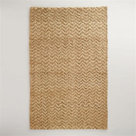 rugs world market 5 x 8 chunky weave chevron jute rug world market