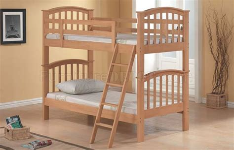Maple Bunk Bed Maple Finish Kid S Bunk Bed