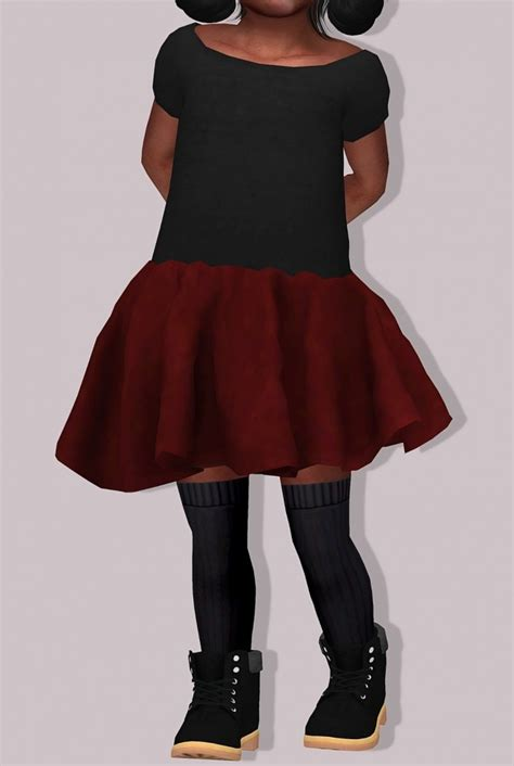 sims 4 clothing for females sims 4 updates chisami dress for toddlers at lumy sims 187 sims 4 updates