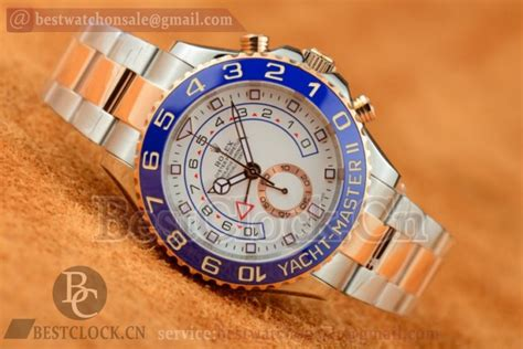 Rolex White On Two Tone Bracelet A 7750 rolex yacht master ii 116681 chrono a7750 white two