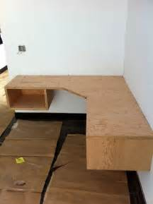 diy built in desk build floating corner desk plans diy pdf wood project bar