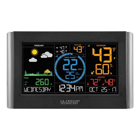wireless color weather station acurite color weather station 02027a1 the home depot