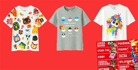 T Shirt Tees Collection Animal World 17 here s uniqlo s epic nintendo collection of t shirts