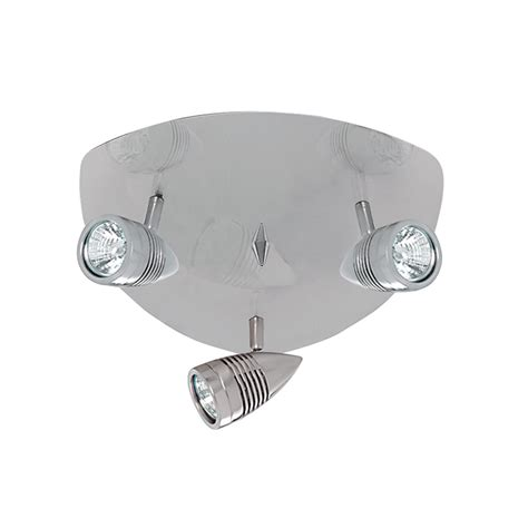 searchlight 693ss falcon 3 light ceiling spotlight fitting