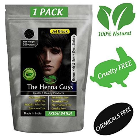henna tattoo dye amazon jet black henna hair beard color dye 200 grams 2 step