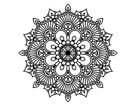 Mandala floral flash coloring page   Coloringcrew.com