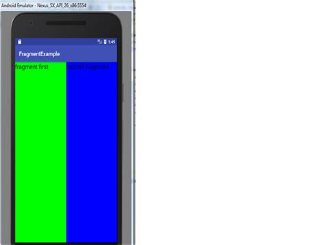 android layout placeholder android how to add 2 fragments dynamically in a single