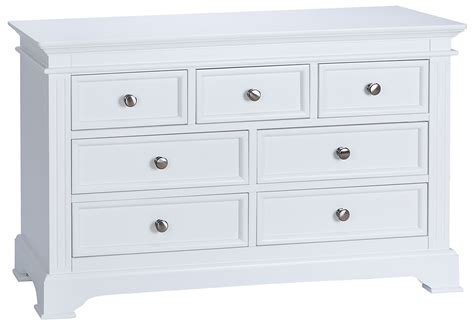 White Chest Of Drawers by Burford White Painted Large 3 4 Multi Chest Of Drawers