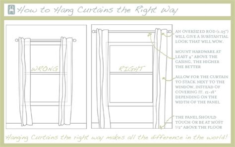 right way to hang curtains hang curtains the right way opalnevershouts home
