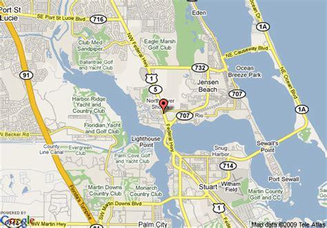 where is stuart florida on the map map of hton inn suites stuart stuart