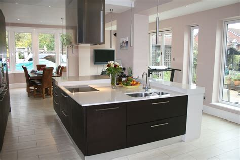big kitchens with islands large contemporary square kitchen island built to