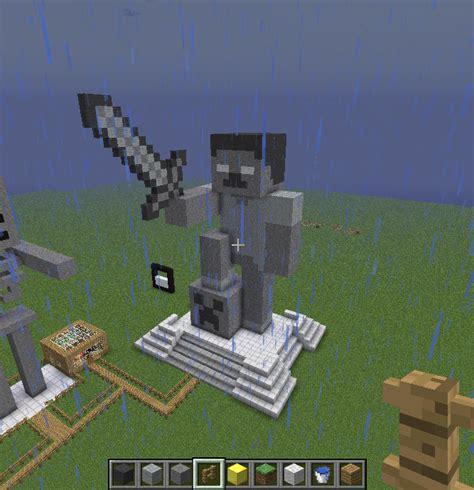 Minecraft Herobrine Statue by BloodytheVampireBat on ...