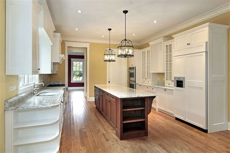 traditional yellow kitchen with a custom wood island 31 quot new quot custom white kitchens with wood islands