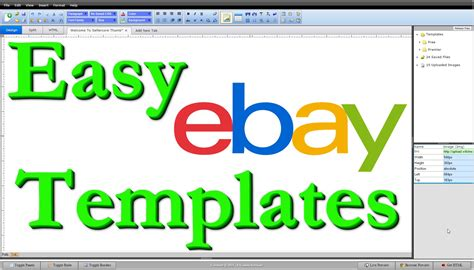 How To Make Free Ebay Templates Html Step By Step Editing Tutorial Youtube Create Ebay Template Free