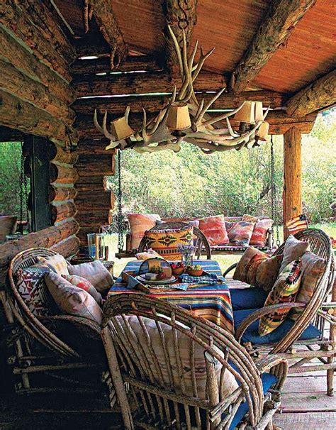 log cabin porch dreams decor pinterest 57 cozy rustic patio designs digsdigs