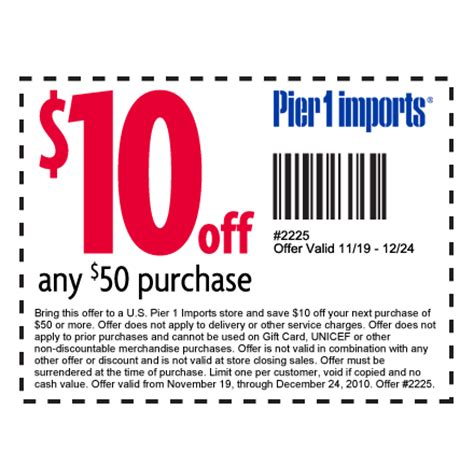 pier one coupon pier 1 coupon 20