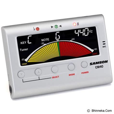 Harga Chromatic Tuner jual samson chromatic tuner metronome cm40 murah