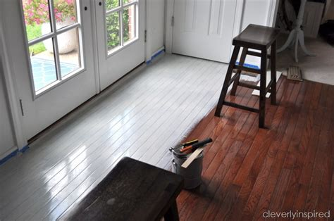 painting a floor painting a prefinished hardwood floor