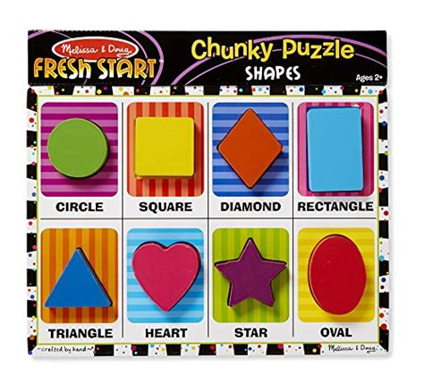 Chunky Puzzle Shape and doug 3730 shapes wooden chunky puzzle 8
