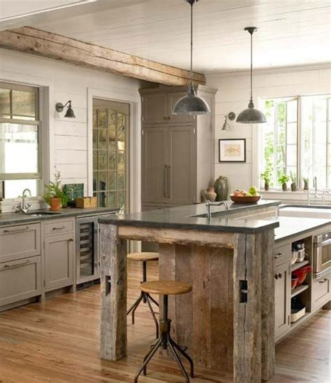 rustic kitchen island ideas tg interiors the new country kitchen meets industrial
