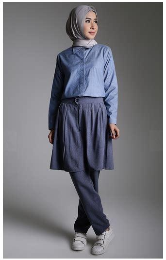 Style Terkini style fashion busana muslim terkini dengan bahan denim