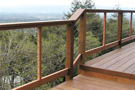 Wire Handrail Installing Cable Railings Professional Deck Builder