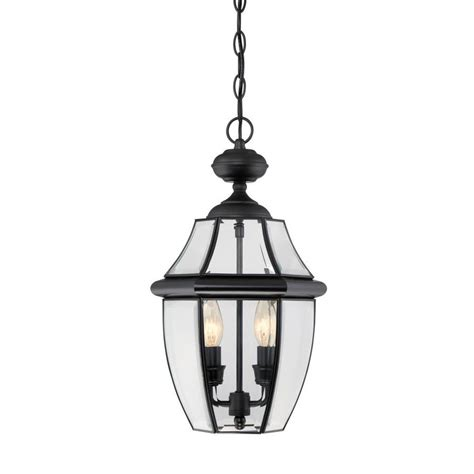 Portfolio Pendant Lighting Shop Portfolio Brayden 18 5 In Mystic Black Outdoor Pendant Light At Lowes
