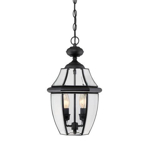 Portfolio Outdoor Lighting Fixtures Shop Portfolio Brayden 18 5 In Mystic Black Outdoor Pendant Light At Lowes