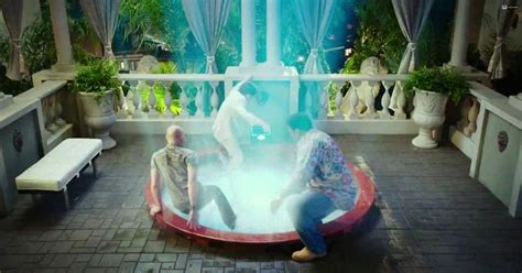 bathtub time machine hot tub time machine 2 trailer shows trio zip into