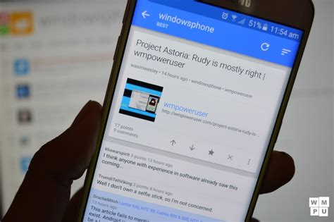 reddit android dev fruits of project astoria as developer promise to port reddit sync to windows 10 mspoweruser