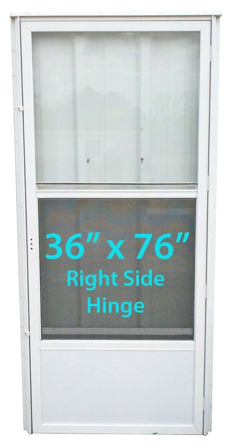 mobile home standard door 36x76 rh white with screen