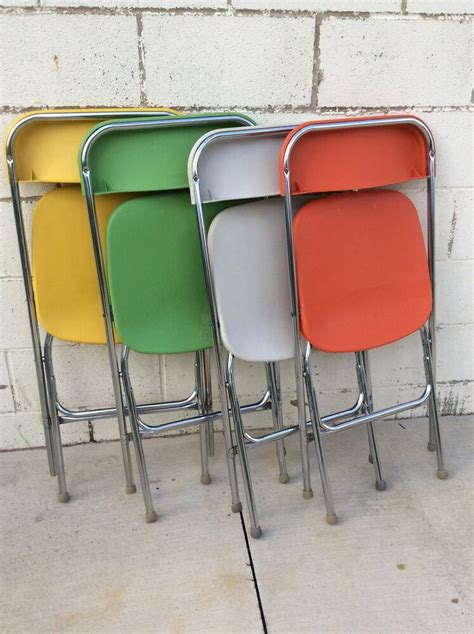 colorful folding chairs mid century modern multi colorful vintage samsonite