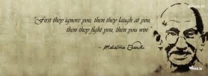 mohandas karamchand gandhi leadership quote fb cover