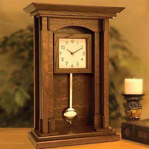arts  crafts pendulum clock woodworking plan