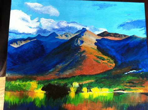 acrylic painting mountains acrylic mountain painting