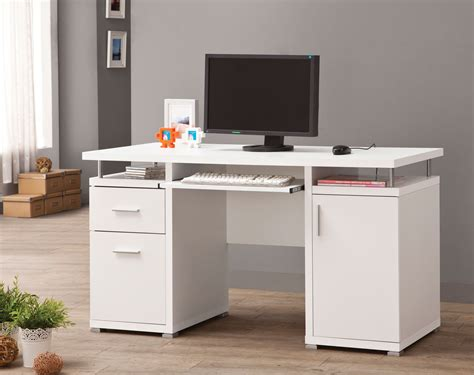 cheap white computer desk 800108 white computer desk from coaster 800108 coleman