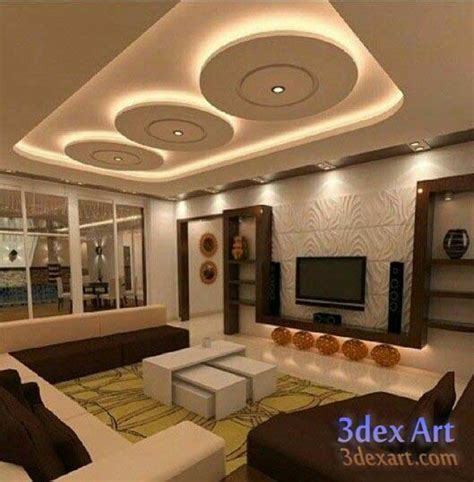 Bedrooms Decoration latest false ceiling designs for living room and hall 2018