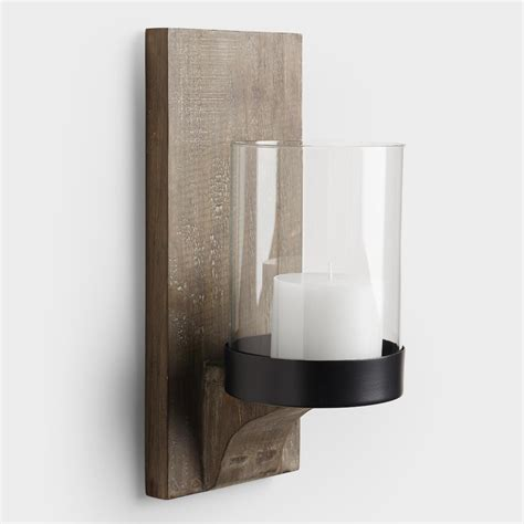 rustic wood sconce world market