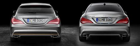 Increasing Bench by Mercedes Cla Vs Cla Shooting Brake Side By Side